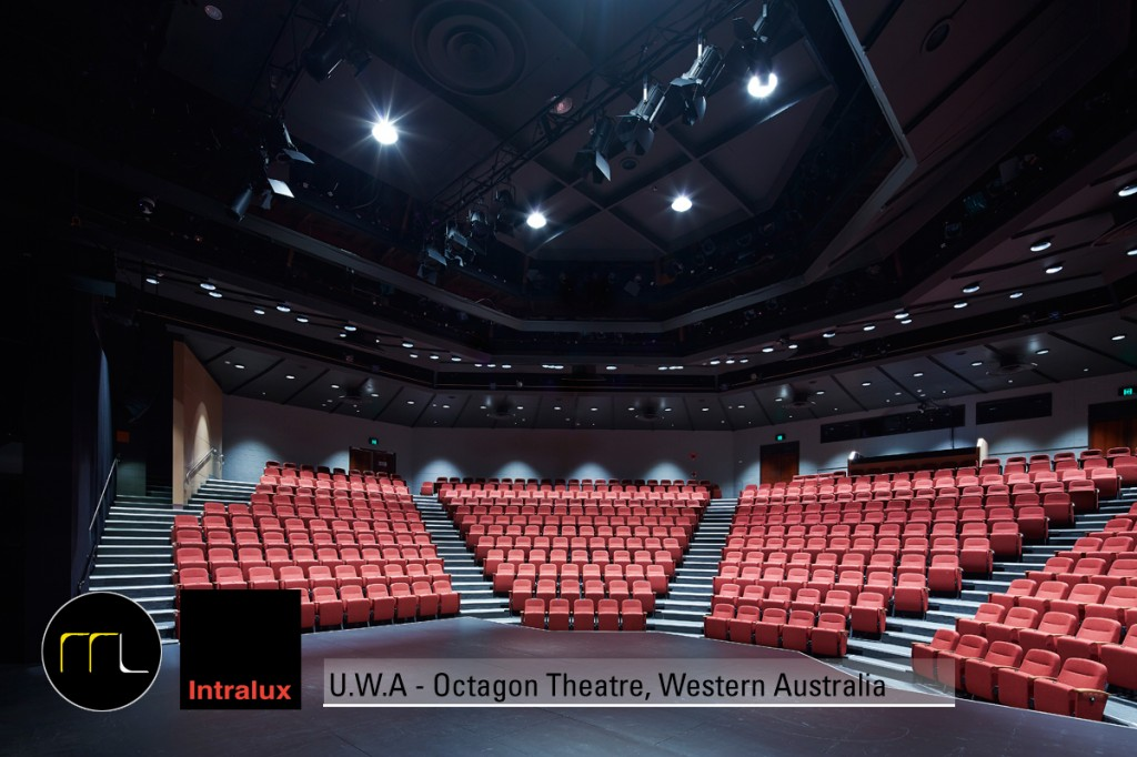 UWA Octagon Theatre WA using Enepro Xicato High CRI  LED Downlight
