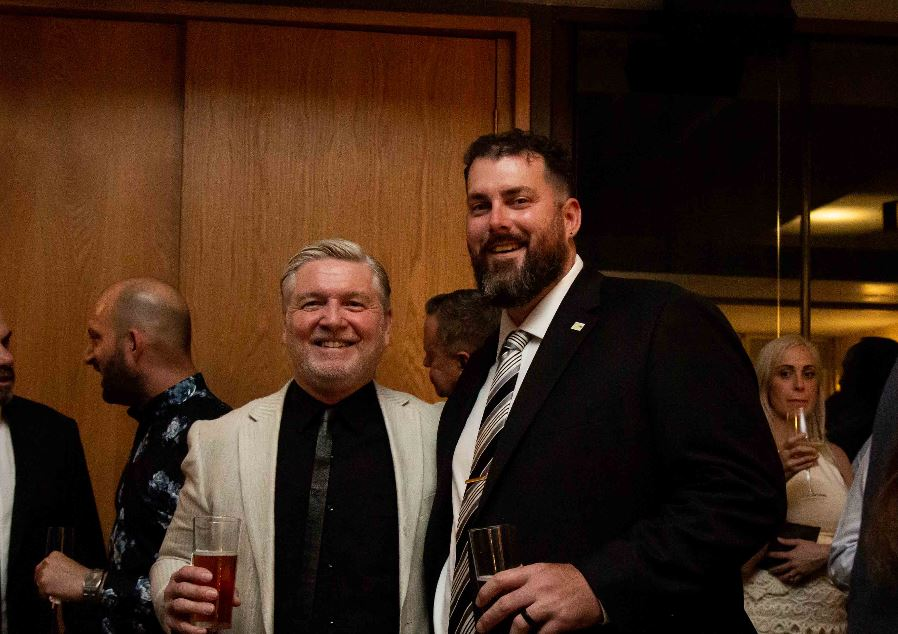 David Tlibury (Left) an Trent Dutton (Right) - IES Awards Dinner, Brisbane, QLD 2019