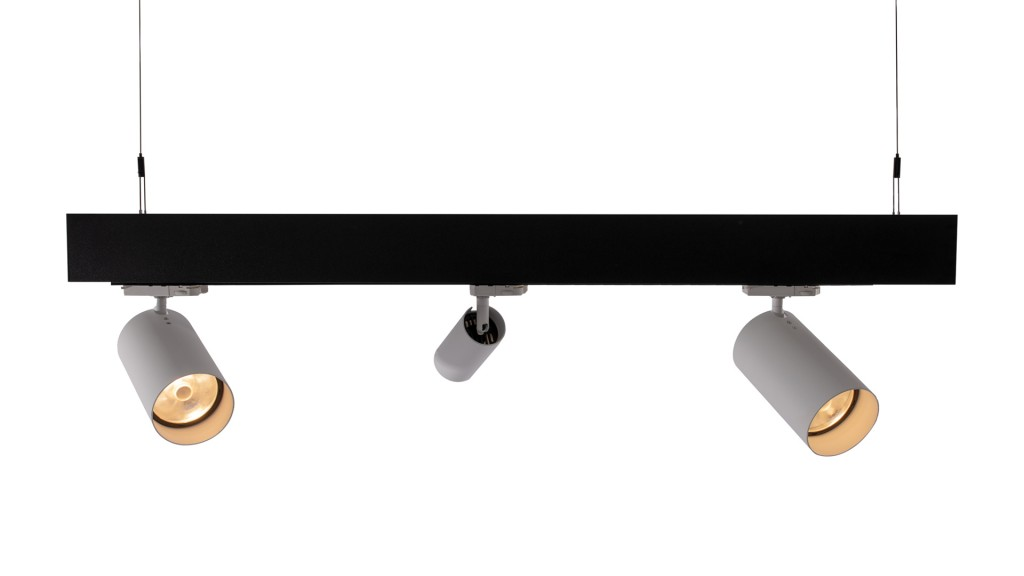 Versatile VL9050 Linear Luminaire System - Global Trac with Enepro S Spotlights
